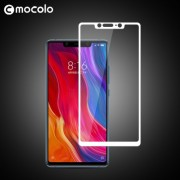 MOCOLO Silk Print Arc Edge Full Coverage Tempered Glass Screen Protector Film for Xiaomi Mi 8 SE - White