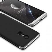 GKK 360 μοιρών Σκληρή Θήκη Ματ με Βελούδινη Υφή Πρόσοψης και Πλάτης για Xiaomi Redmi 5 Plus - Μαύρο/Ασημί