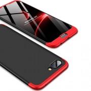 GKK 360 μοιρών Σκληρή Θήκη Ματ με Βελούδινη Υφή Πρόσοψης και Πλάτης για Huawei Honor 10 - Μαύρο/Κόκκινο