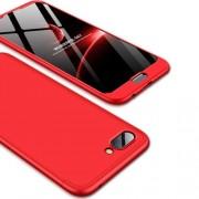 GKK 360 μοιρών Σκληρή Θήκη Ματ με Βελούδινη Υφή Πρόσοψης και Πλάτης για Huawei Honor 10 - Κόκκινο