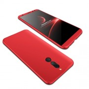 GKK 360 μοιρών Σκληρή Θήκη Ματ με Βελούδινη Υφή Πρόσοψης και Πλάτης για Huawei Mate 10 Lite - Κόκκινο