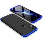 GKK 360 μοιρών Σκληρή Θήκη Ματ με Βελούδινη Υφή Πρόσοψης και Πλάτης για Huawei P20 Lite - Μαύρο/Μπλε