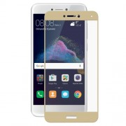 HAT PRINCE 0.26mm 9H 2.5D Arc Edge Complete Coverage Tempered Glass Screen Protector Guard Film for Huawei P8 Lite (2017) / Honor 8 Lite - Gold