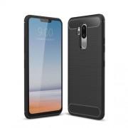 Θήκη Σιλικόνης TPU Carbon Fiber Brushed για LG G7 ThinQ - Μαύρο