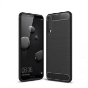 Θήκη Σιλικόνης TPU Carbon Fiber Brushed για Huawei P20 Pro - Μαύρο