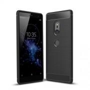Θήκη Σιλικόνης TPU Carbon Fiber Brushed για Sony Xperia XZ2 - Μαύρο