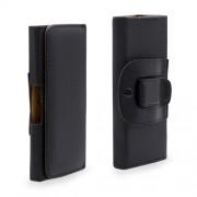 Universal Δερμάτινη Θήκη Ζώνης για Smartphones με μέγεθος 143 X 70 X 20mm - Μαύρο