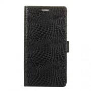 Δερμάτινη Θήκη Πορτοφόλι με Βάση Στήριξης για Motorola Moto E5 Play - Μαύρο