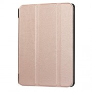 For Huawei MediaPad T3 10 Tri-fold Stand PU Leather Flip Tablet Cover - Rose Gold