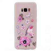 Θήκη Σιλικόνης TPU με Φαντεζί Πέτρες για Samsung Galaxy S8 G950 - Πεταλούδες και Λουλούδια