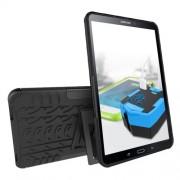 Υβριδική Θήκη Συνδυασμού Σιλικόνης TPU και Πλαστικού με Βάση Στήριξης για Samsung Galaxy Tab A 10.1 (2016) T580 T585 - Μαύρο