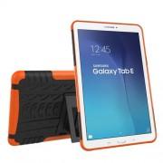 Υβριδική Θήκη Συνδυασμού Σιλικόνης TPU και Πλαστικού με Βάση Στήριξης για Samsung Galaxy Tab E 9.6 T560 - Πορτοκαλί