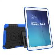 Υβριδική Θήκη Συνδυασμού Σιλικόνης TPU και Πλαστικού με Βάση Στήριξης για Samsung Galaxy Tab E 9.6 T560 - Μπλε