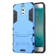 Shockproof PC + TPU Hybrid Kickstand Cell Phone Case for Meizu M6 Note - Baby Blue