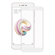 HAT PRINCE 3D Full Screen Tempered Glass Protector Film with Soft Carbon Fiber Edge for Xiaomi Redmi 5A - White
