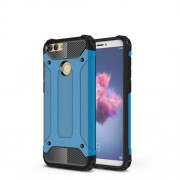 Armor Guard Plastic + TPU Hybrid Cell Phone Case for Huawei P Smart / Enjoy 7S - Baby Blue