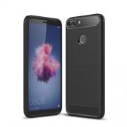 Θήκη Σιλικόνης TPU Carbon Fiber Brushed για Huawei P Smart / Enjoy 7S - Μαύρο