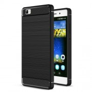 Carbon Fibre Brushed TPU Case for Huawei P8 Lite - Black