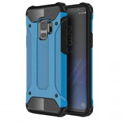 Armor Guard Plastic + TPU Hybrid Mobile Phone Cover for Samsung Galaxy S9 - Baby Blue