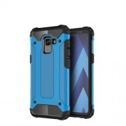 Armor Guard Plastic + TPU Combo Shell Case for Samsung Galaxy A8+ (2018) - Baby Blue