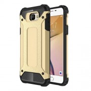 Armor Guard Hybrid Plastic + TPU Phone Case for Samsung Galaxy J7 Prime / On7 2016 - Gold