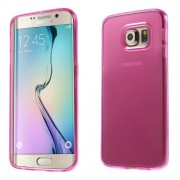 Transparent TPU Gel Shell for Samsung Galaxy S6 Edge G925 - Rose