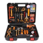 SOLUDE 57Pcs Household Hardware Tool Kit with Multimeter Lithium Electric Drill Etc (ST-057W)