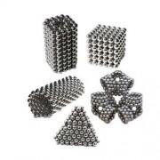 Σετ από 216 Μεταλλικές Μαγνητικές Μπάλες για Κατασκευές (3mm η κάθε μία) - Ασημί
