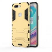 Υβριδική Θήκη Συνδυασμού Σιλικόνης και Πλαστικού με Βάση Στήριξης για OnePlus 5T - Χρυσαφί