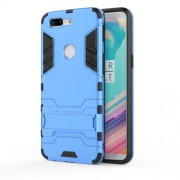 Cool Plastic TPU Hybrid Cell Phone Cover with Kickstand for OnePlus 5T - Baby Blue