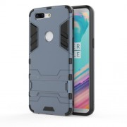 Cool Plastic TPU Combo Back Casing with Kickstand for OnePlus 5T - Dark Blue