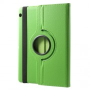 For Huawei MediaPad T3 10 Litchi Grain 360 Degree Rotary Stand Leather Protective Case - Green