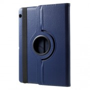 Litchi Grain 360 Degree Rotary Leather Stand Shell for Huawei MediaPad T3 10 - Dark Blue