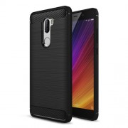 Carbon Fibre Brushed TPU Case for Xiaomi Mi 5s Plus - Black