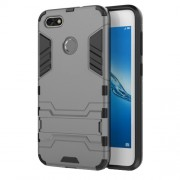 Cool Plastic TPU Hybrid Mobile Case with Kickstand for Huawei P9 lite mini / Enjoy 7 / Y6 Pro (2017) - Grey