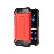 Armor Guard Plastic + TPU Hybrid Case Cover for Huawei P10 - Red