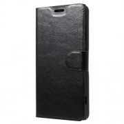 Δερμάτινη Θήκη Πορτοφόλι με Βάση Στήριξης για Sony Xperia XA1 Plus - Μαύρο