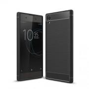 Θήκη Σιλικόνης TPU Carbon Fiber Brushed για Sony Xperia XA1 Plus - Μαύρο