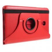 Περιστρεφόμενη Δερμάτινη Θήκη Βιβλίο με Βάση Στήριξης για Samsung Galaxy Tab A 8.0 (2017) T380 T385 - Κόκκινο
