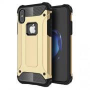 Tough Armor Υβριδική Θήκη Σιλικόνης TPU σε Συνδυαμό με Πλαστικό για iPhone X - Χρυσαφί