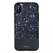 DZGOGO Luxury Series Υβριδική Θήκη Σιλικόνης και Πλαστικού για iPhone X - Μαύρο Sparkle