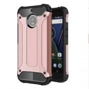 Tough Armor Υβριδική Θήκη Σιλικόνης TPU σε Συνδυαμό με Πλαστικό για Motorola Moto G5S - Ροζέ Χρυσαφί