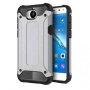 Armor Guard Plastic + TPU Hybrid Phone Case for Huawei Y5 (2017) / Y6 (2017) - Grey