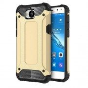 Armor Guard Plastic + TPU Hybrid Protective Case for Huawei Y5 (2017) / Y6 (2017) - Gold
