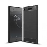 Θήκη Σιλικόνης TPU Carbon Fiber Brushed για Sony Xperia XZ1 - Μαύρο