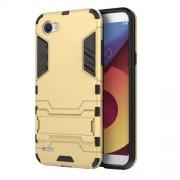 Υβριδική Θήκη Συνδυασμού Σιλικόνης TPU και Πλαστικού με Βάση Στήριξης για LG Q6 / Q6 Plus - Χρυσαφί
