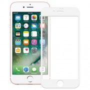 Soft Edge Tempered Glass Screen Protector Full Covered for iPhone 8 - White