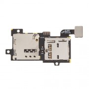 SIM Card and Memory SD Card Contact Holder Flex Cable for Samsung Galaxy S3 S III