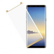 3D Curved Full Size Mobile Tempered Glass Screen Protector for Samsung Galaxy Note 8 N950 - Gold