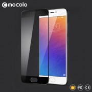 MOCOLO Silk Print Arc Edge Complete Coverage Tempered Glass Screen Protector for Meizu MX6 - Black
